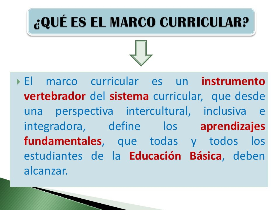 MARCO CURRICULAR NACIONAL Y APRENDIZAJES FUNDAMENTALES - ppt video ...