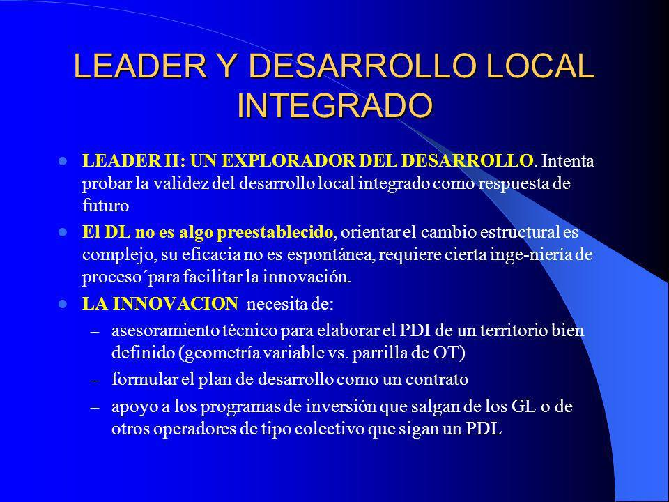 LEADER Y DESARROLLO LOCAL INTEGRADO