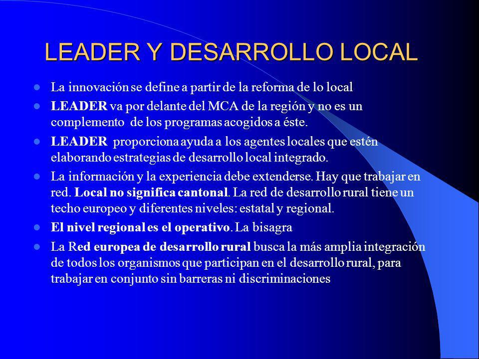 LEADER Y DESARROLLO LOCAL
