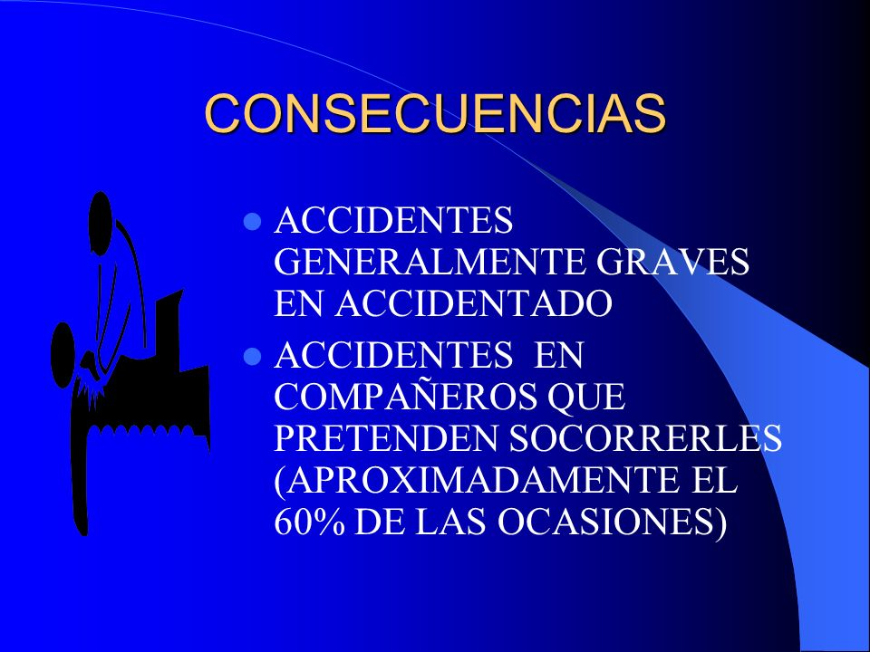 CONSECUENCIAS ACCIDENTES GENERALMENTE GRAVES EN ACCIDENTADO