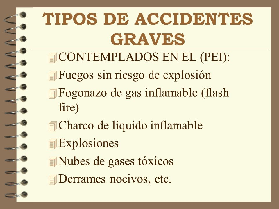 TIPOS DE ACCIDENTES GRAVES