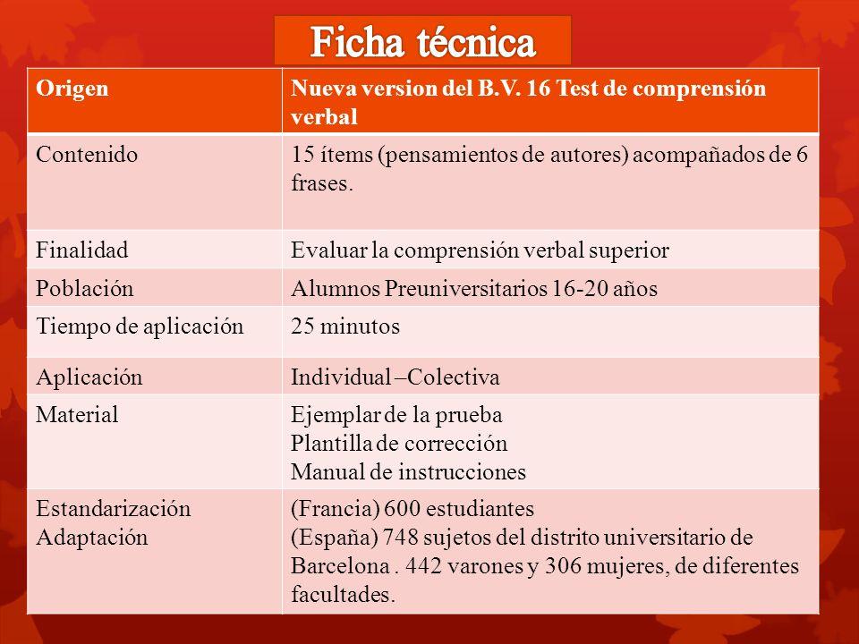 b v 17 test de comprensi n verbal ppt video online descargar rh slideplayer es Manual Tester manual del test de barcelona