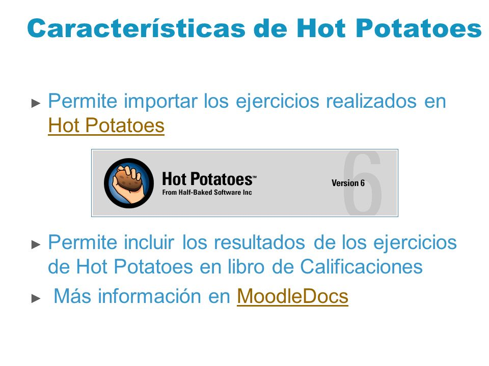 Características de Hot Potatoes