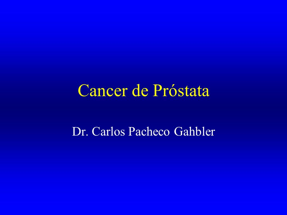 Dr. Carlos Pacheco Gahbler