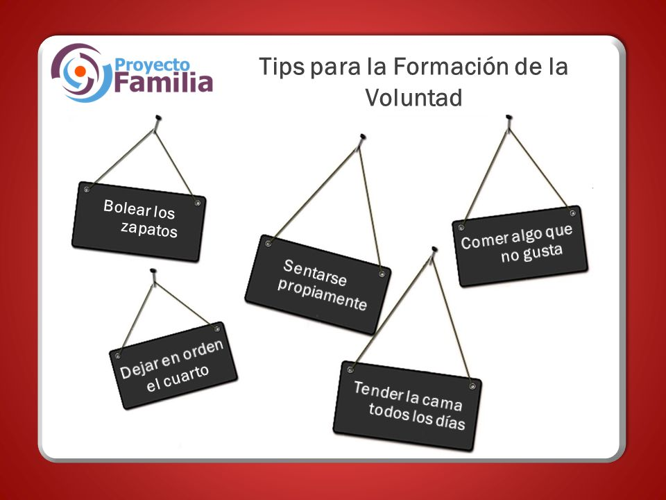 Tips para la Formación de la Voluntad