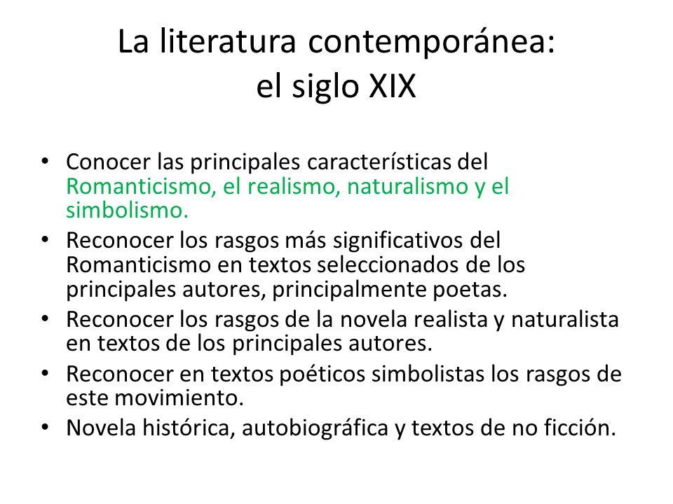 Literatura universal en el contexto de la cultura for Caracteristicas de los contemporaneos