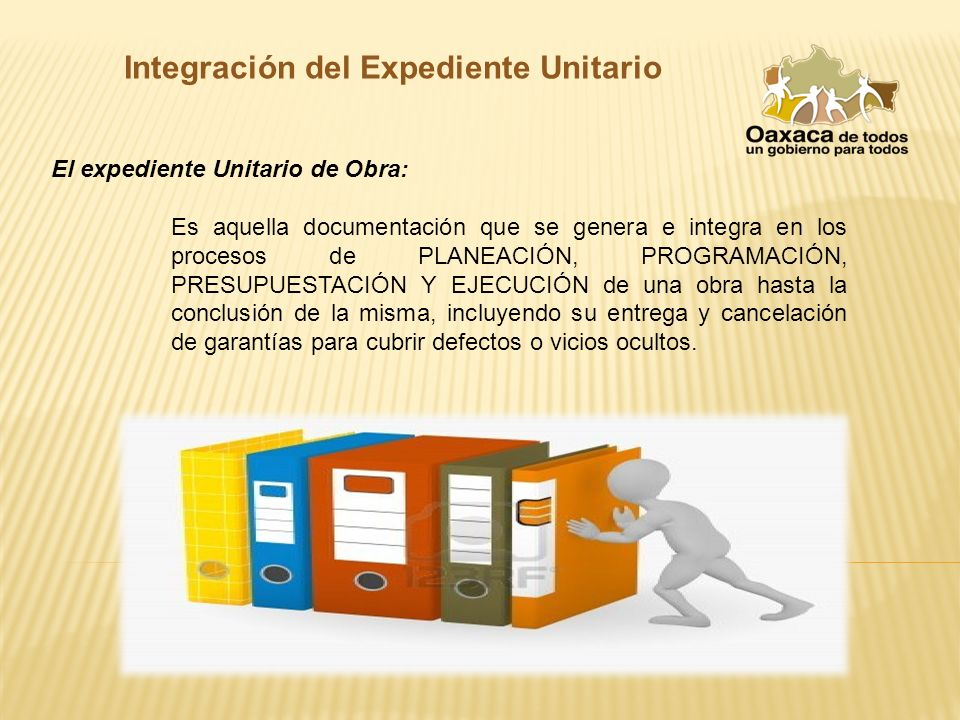expediente de obra pendiente de documentación