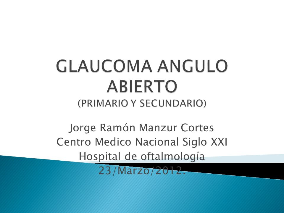 diabetes inducida por glaucoma secundario