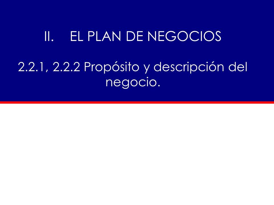 2.2.1, Propósito y descripción del negocio. - ppt descargar