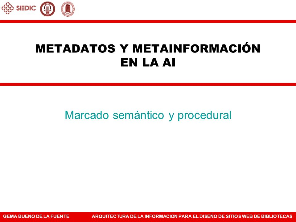 METADATOS Y METAINFORMACIÓN EN LA AI