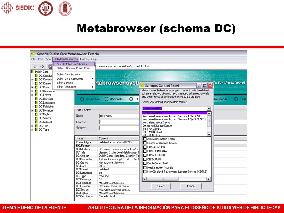 Metabrowser (schema DC)