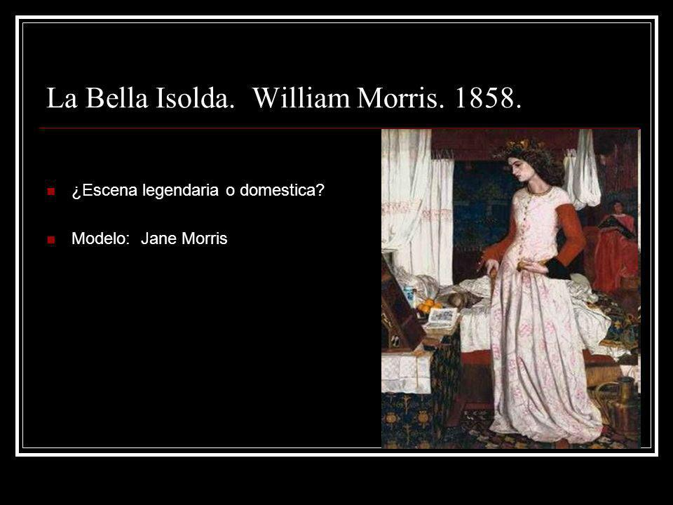 La Bella Isolda. William Morris. 1858.