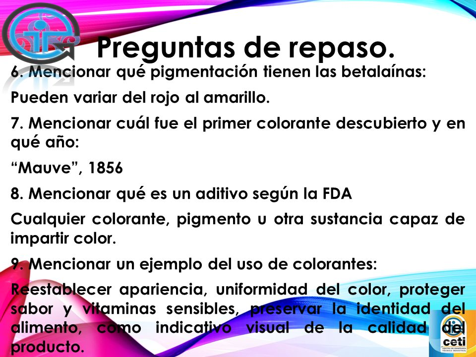 Colorantes básicos alimentarios - ppt video online descargar