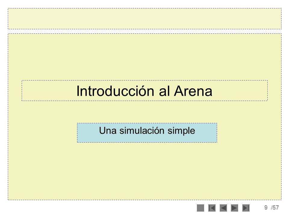 Introducción al Arena Una simulación simple