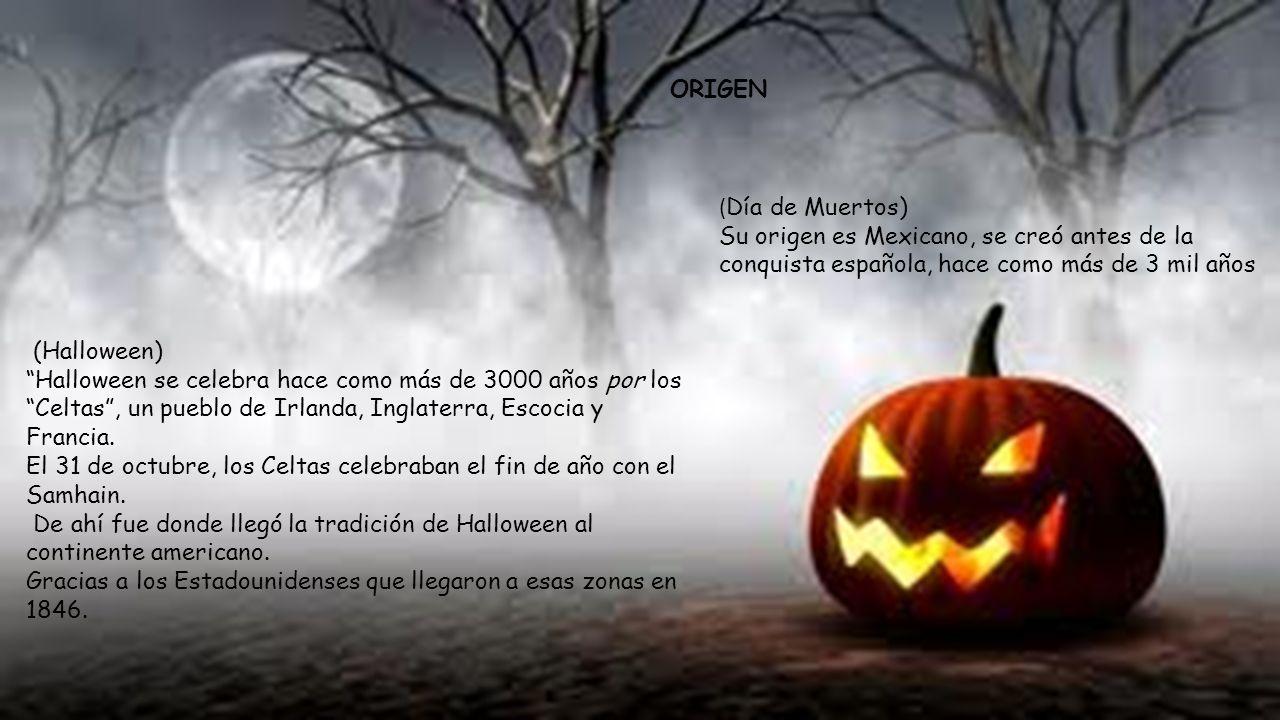 ORIGEN (Día de Muertos) Su origen es Mexicano, se creó antes de la