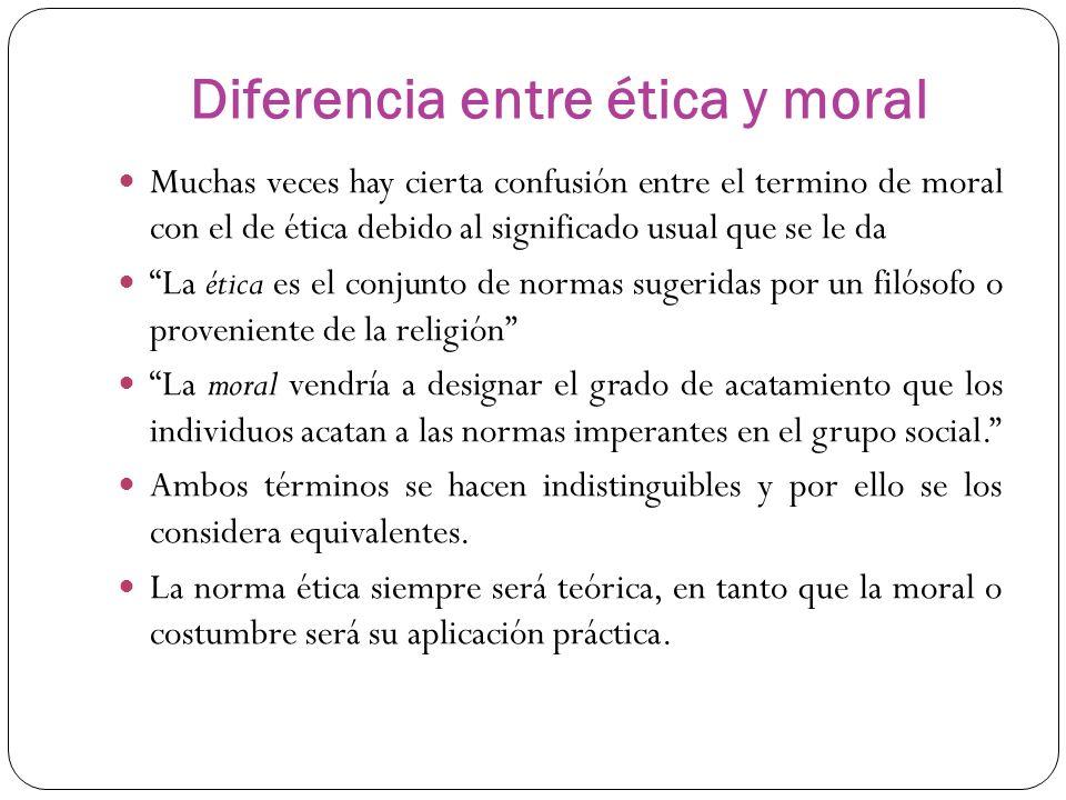 Que Diferencia Hay Entre La Etica Y Moral Esta Diferencia