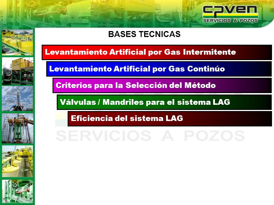 BASES TECNICAS Levantamiento Artificial por Gas Intermitente