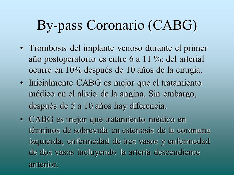 By-pass Coronario (CABG)