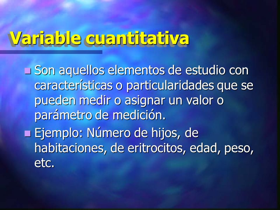 Variable cuantitativa