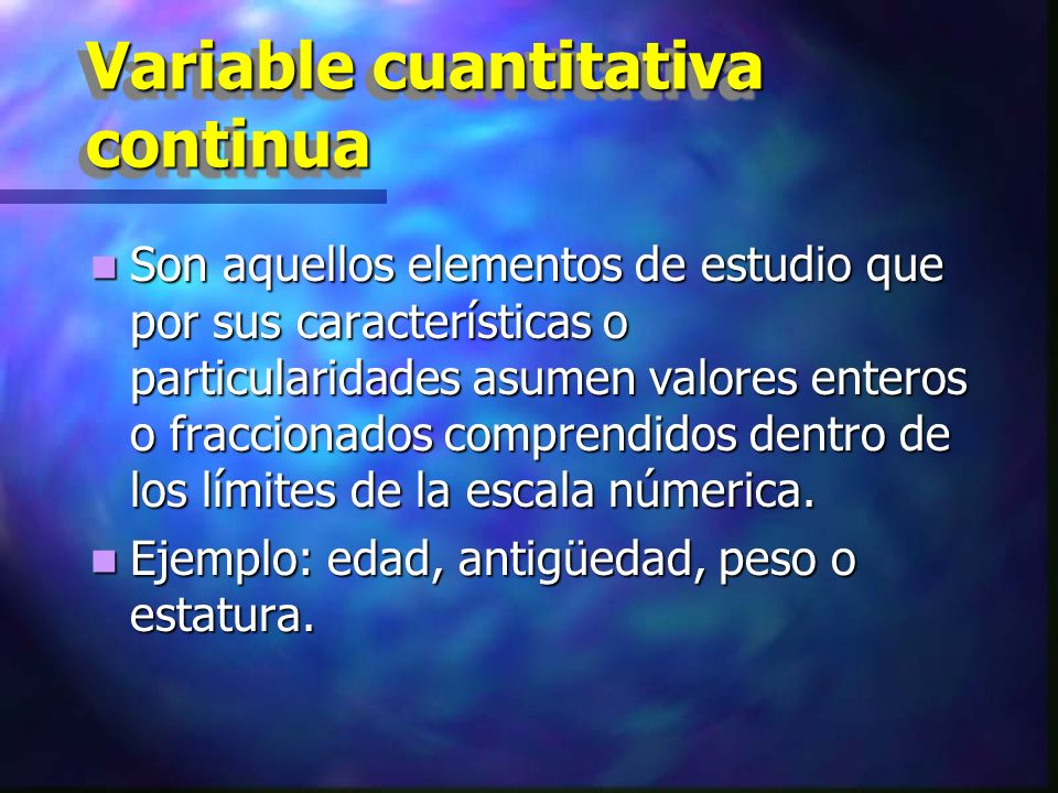 Variable cuantitativa continua