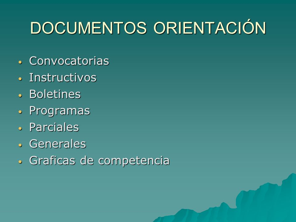 DOCUMENTOS ORIENTACIÓN