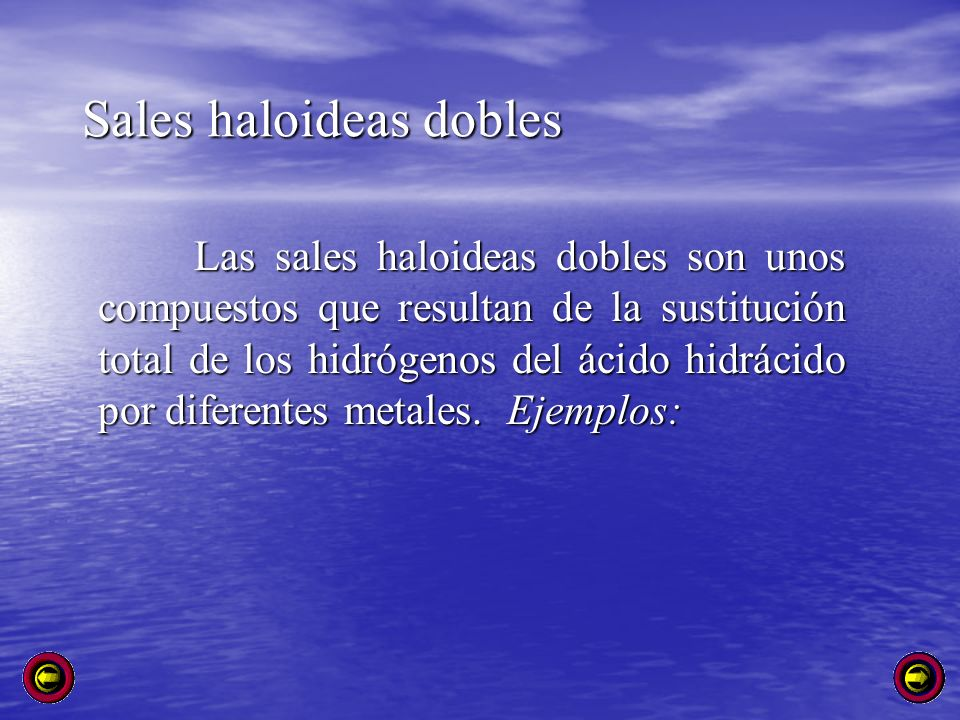 Sales haloideas dobles