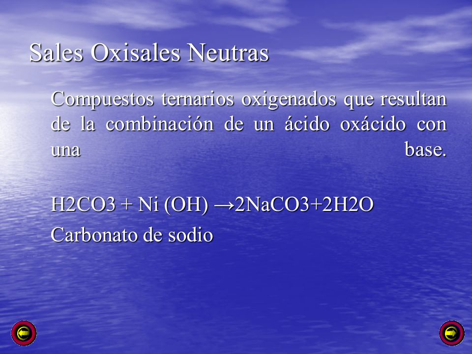 Sales Oxisales Neutras