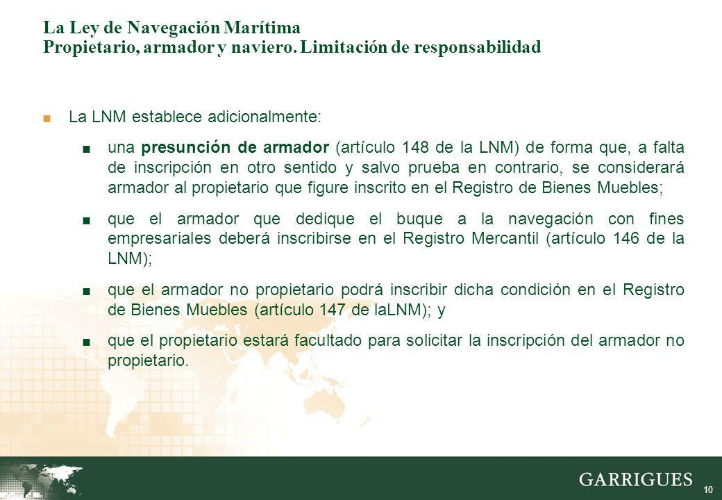 La ley de navegaci n mar tima palma de mallorca 13 de for Registro bienes muebles madrid