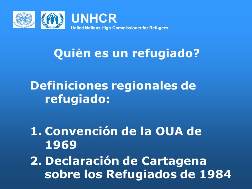 UNHCR United Nations High Commissioner for Refugees