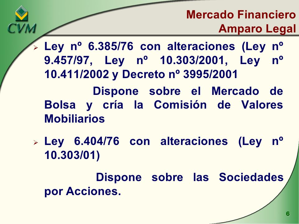 Mercado Financiero Amparo Legal