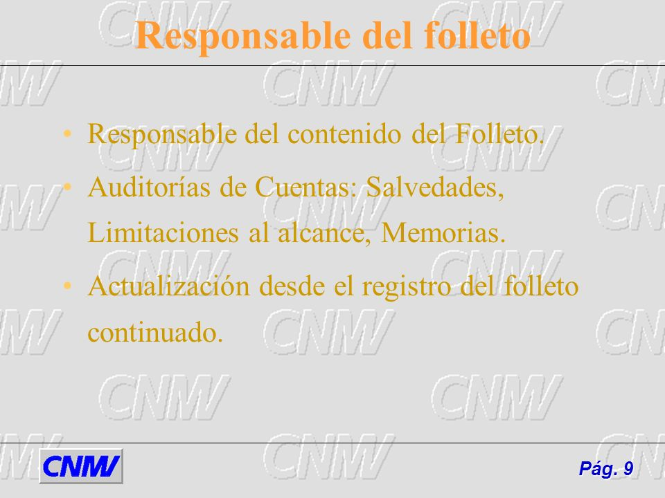 Responsable del folleto