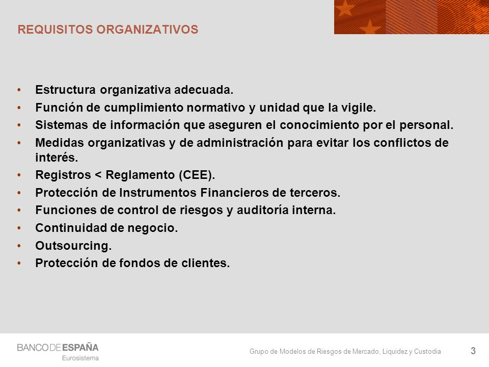 REQUISITOS ORGANIZATIVOS