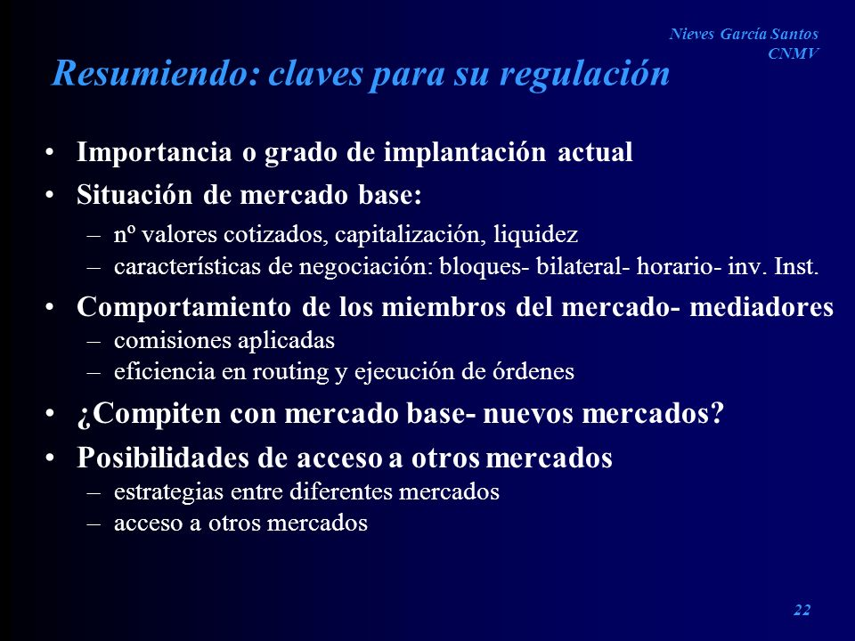 Resumiendo: claves para su regulación