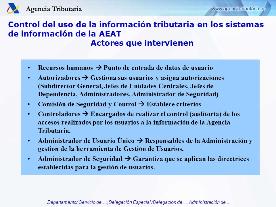 Actores que intervienen