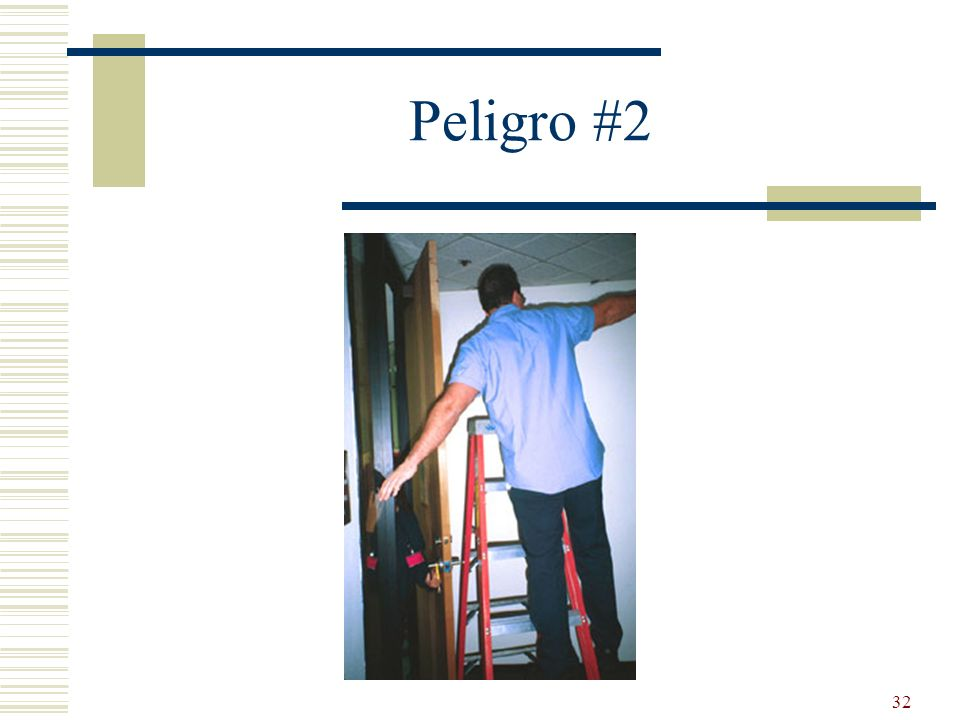 Peligro #2 Working in front of door. No warning.