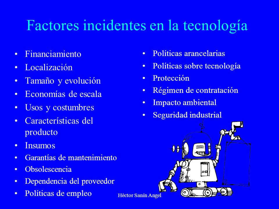 Factores incidentes en la tecnología