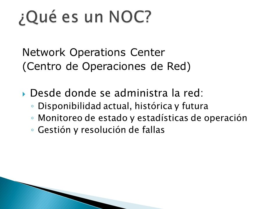 ¿Qué es un NOC Network Operations Center