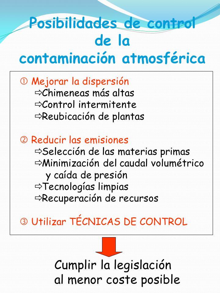TÉCNICAS DE CONTROL DE LA CONTAMINACIÓN ATMOSFÉRICA - ppt descargar